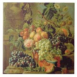 Still Life of Fruit Tile