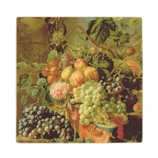 Still Life of Fruit Wood Coaster
