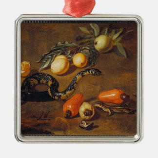 Still Life of Fruits from Surinam and Reptiles Christmas Ornament