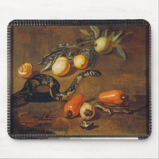 Still Life of Fruits from Surinam and Reptiles Mouse Pad