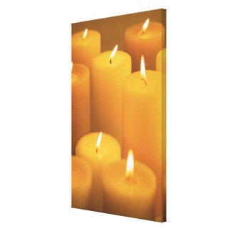 Still life of lighted candles canvas print