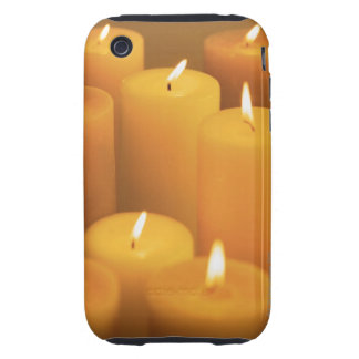 Still life of lighted candles iPhone 3 tough case