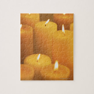 Still life of lighted candles jigsaw puzzle