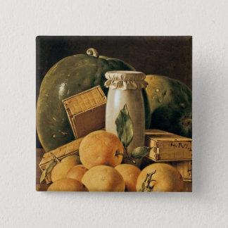 Still Life of Oranges, Watermelon 15 Cm Square Badge