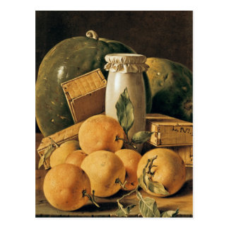 Still Life of Oranges, Watermelon Postcard