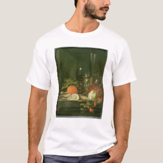 Still Life of Oysters, Grapes, Bread T-Shirt