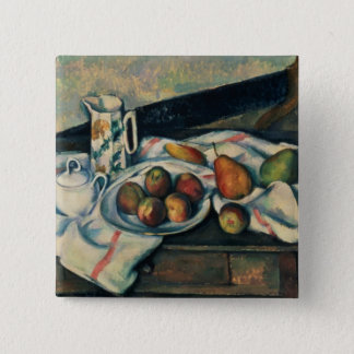 Still Life of Peaches and Pears, 1888-90 15 Cm Square Badge