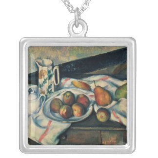 Still Life of Peaches and Pears, 1888-90 Silver Plated Necklace