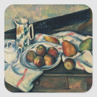 Still Life of Peaches and Pears, 1888-90 Square Sticker