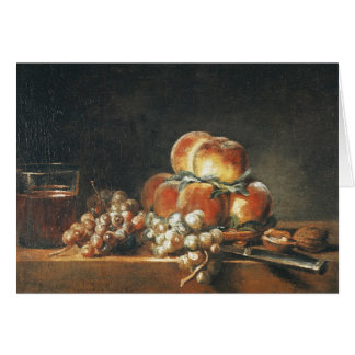Still Life of Peaches, Nuts, Grapes Card