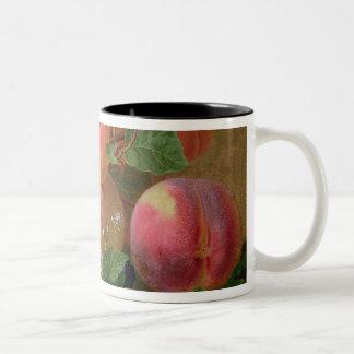 Still Life of Peaches Two-Tone Coffee Mug