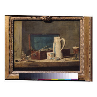 Still Life of Pipes and a Drinking Glass Postcard