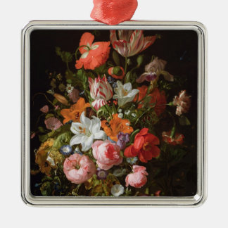 Still life of roses  lilies, tulips christmas ornament