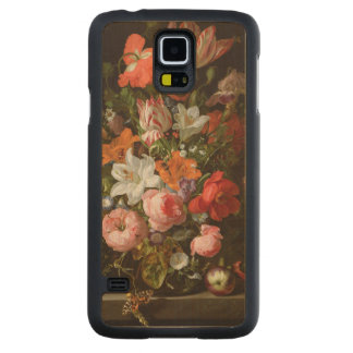 Still life of roses  lilies, tulips maple galaxy s5 case