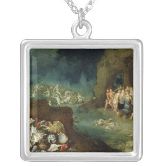 Still life of shells with the Feast of the Gods Silver Plated Necklace