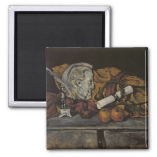 Still Life of the Artist's Accessories, 1872 Square Magnet