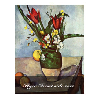 Still Life Of Tulips And Apples By Paul Cézanne Flyers