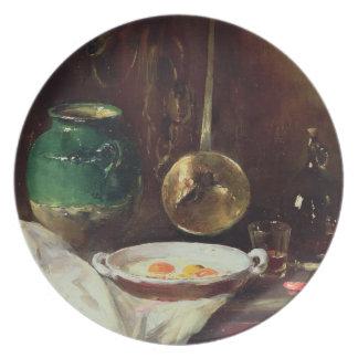 Still Life (oil on panel) 2 Plate