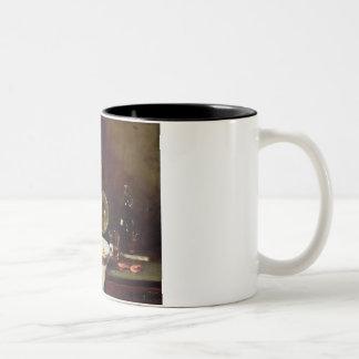 Still Life (oil on panel) 2 Two-Tone Coffee Mug