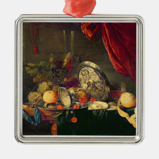Still Life (oil on panel) Christmas Ornament