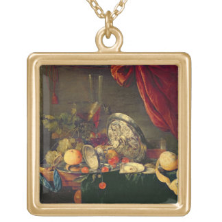 Still Life (oil on panel) Necklace