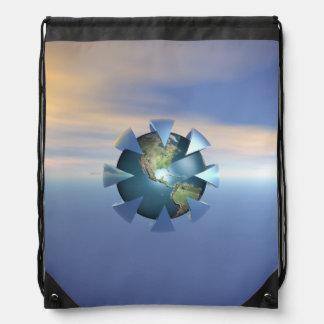 Still Life On Earth Drawstring Bags