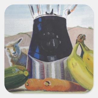 Still life painting fruit vegetables blender stickers