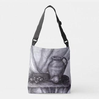 Still Life Pencil Drawing Classic Cross Body Bag