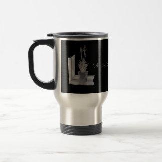 Still life pot plant drawing realist art stainless steel travel mug
