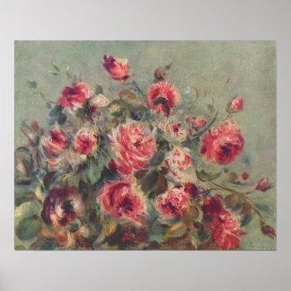 Still Life, Roses of Vargemont | Renoir Poster