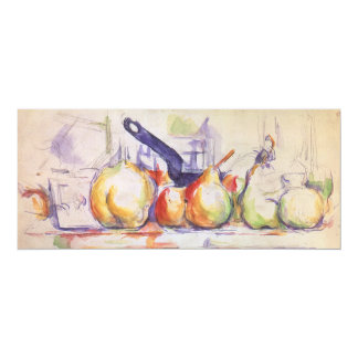 Still Life Saucepan by Cezanne, Impressionism Art 10 Cm X 24 Cm Invitation Card