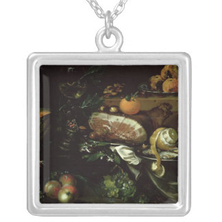 Still Life Silver Plated Necklace