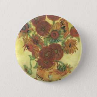 Still Life: Sunflowers 6 Cm Round Badge