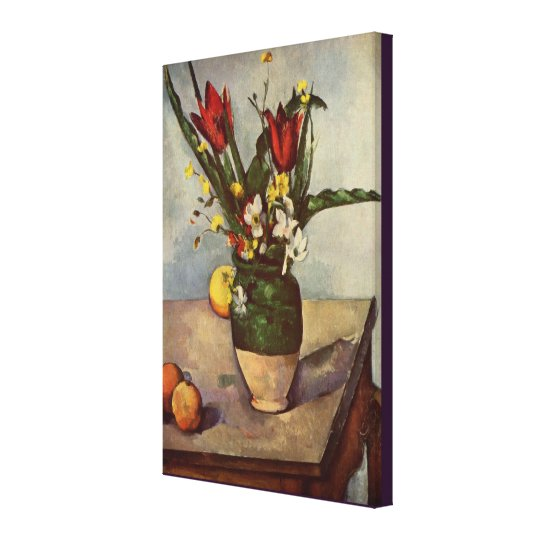 Still Life, Tulips, and Apples by Paul Cezanne