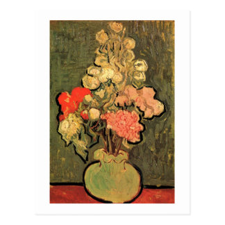Still Life Vase Rose-Mallows Van Gogh Fine Art Postcard