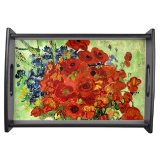 Still Life, Vase with Daisies and Poppies (1890) Serving Tray