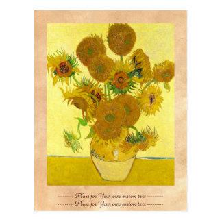 Still Life - Vase with Fifteen Sunflowers van gogh Postcard