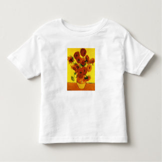 Still Life Vase with Fifteen Sunflowers -Van Gogh Toddler T-Shirt