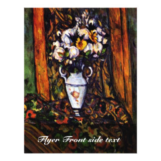 Still Life Vase With Flowers By Paul Cézanne 21.5 Cm X 28 Cm Flyer
