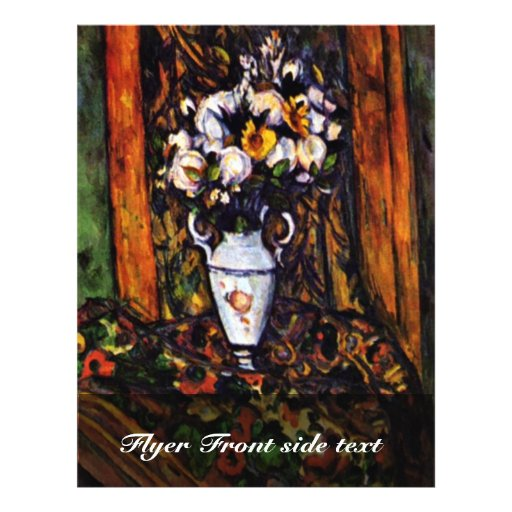Still Life Vase With Flowers By Paul Cézanne Personalized Flyer