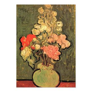 Still Life Vase with Rose-Mallows by van Gogh 13 Cm X 18 Cm Invitation Card