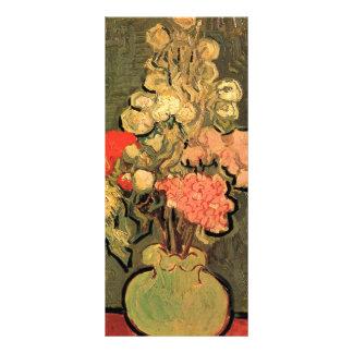 Still Life Vase with Rose-Mallows by van Gogh Custom Rack Card