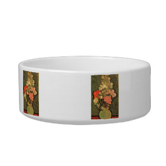 Still Life Vase with Rose-Mallows by Van Gogh Pet Bowls