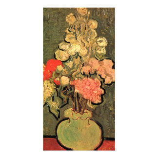 Still Life Vase with Rose-Mallows by van Gogh Photo Card