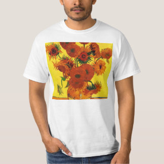 Still Life Vase with Sunflowers by van Gogh T-Shirt
