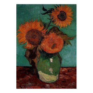 still life - vase with three sunflowers, van Gogh Pack Of Chubby Business Cards