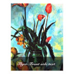 Still Life Vase With Tulips By Paul Cézanne Personalized Flyer