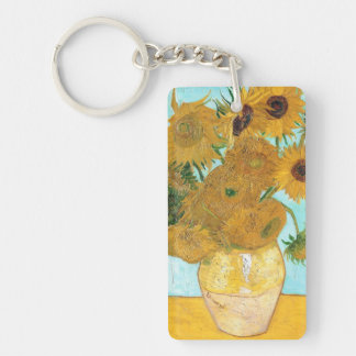 Still Life - Vase with Twelve Sunflowers van Gogh Key Ring