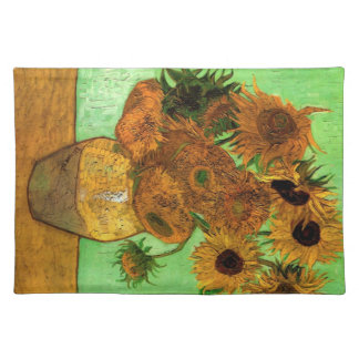 Still Life Vase with Twelve Sunflowers - Van Gogh Placemat