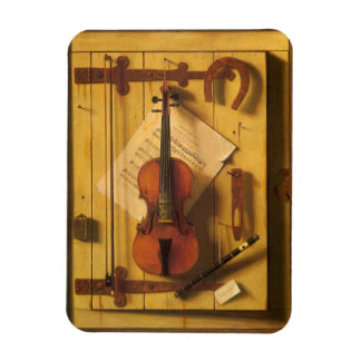 Still Life Violin and Music by Harnett Magnet